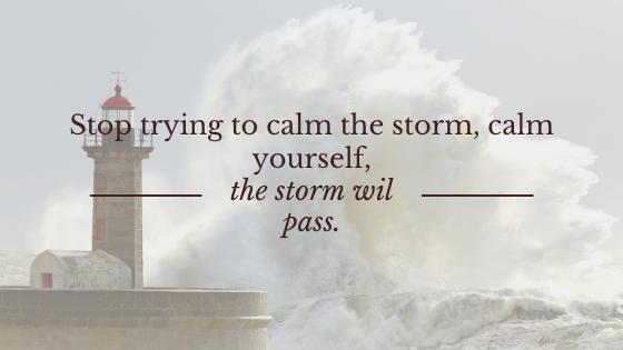 Kalmte in de storm...